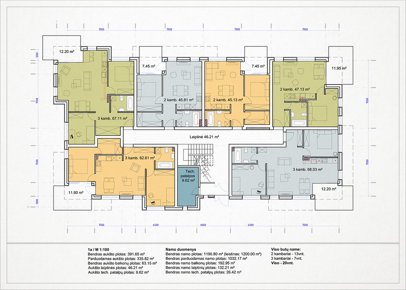 daugiabucio namo palangoje trecio auksto planas 2015
