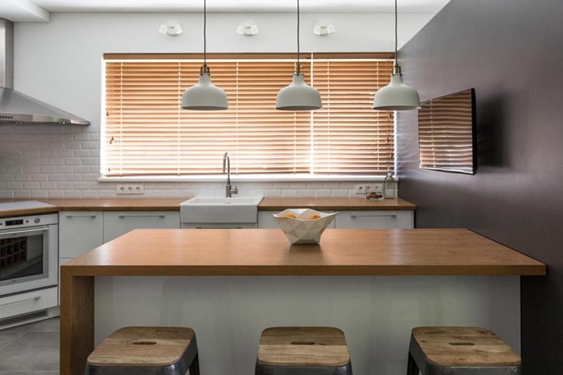 virtuves interjero dizainas - namas pavilnyje