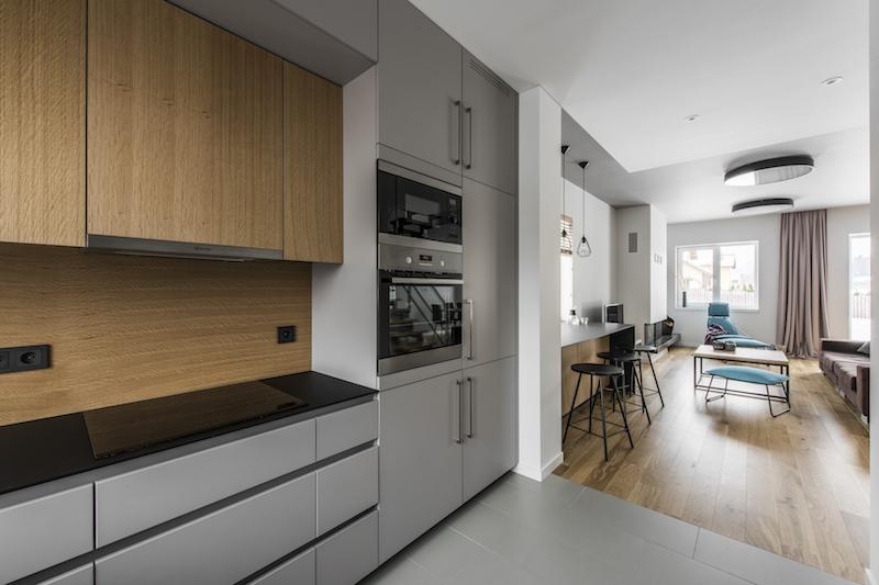 virtuves interjeras - kotedzas pavilnyje #3