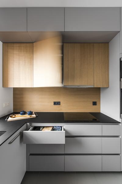 virtuves interjeras - kotedzas pavilnyje
