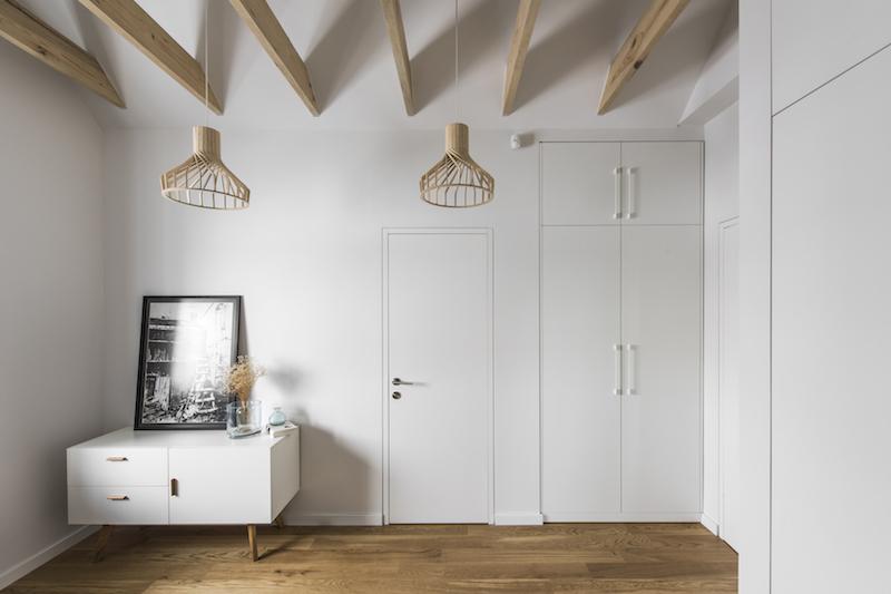 miegamojo interjeras - kotedzas pavilnyje