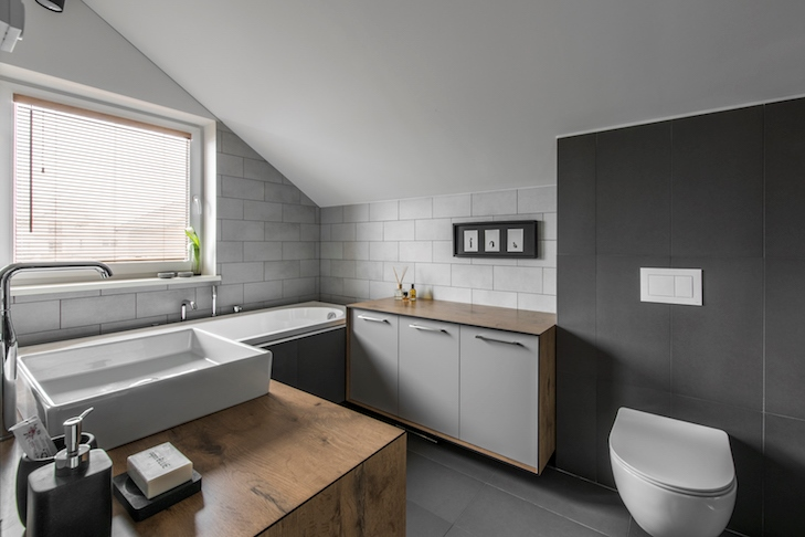 vonios interjeras - kotedzas pavilnyje #3