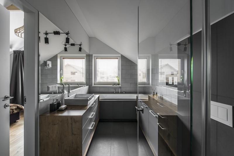 vonios interjeras - kotedzas pavilnyje #2