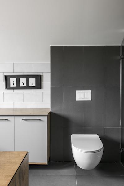 tuoleto interjero dizaino pavyzdys - kotedzas pavilnyje #2