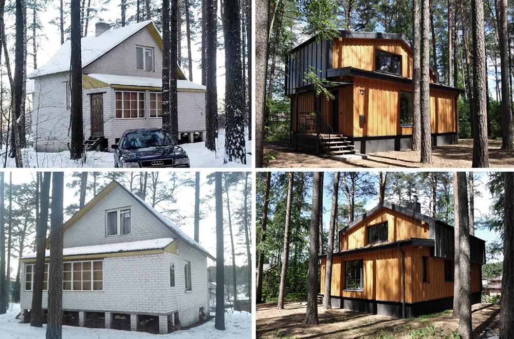 sodo namo rekonstrukcijos projektas pries ir po nuotraukos