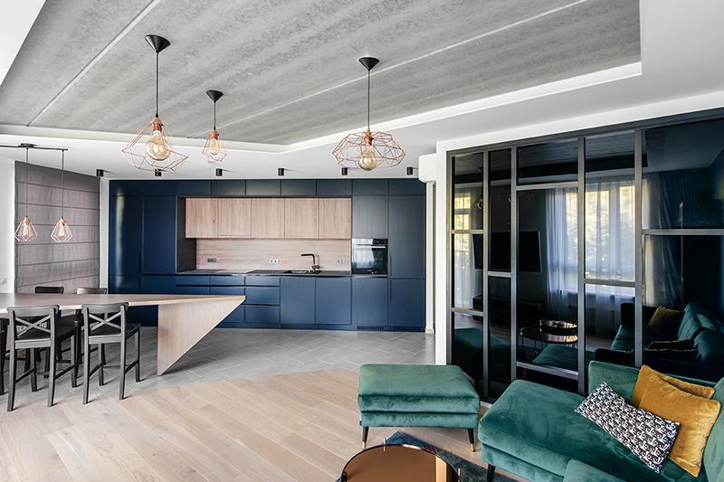 virtuves interjero dizainas - butas linkmenu ezeruose #2