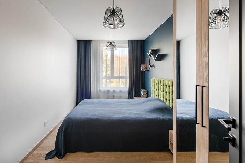 miegamojo interjeras - butas linkmenu ezeruose