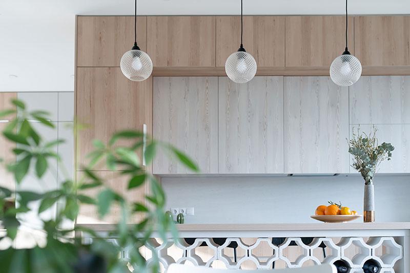 virtuves interjeras - kotedzas avizieniuose #7