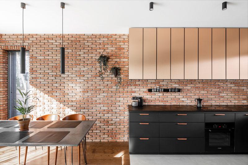 virtuves interjero dizainas - kotedzas pavilnyje