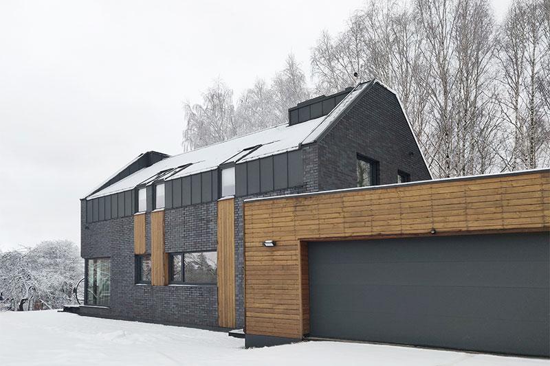 gyvenamojo namo pavilnyje projektas - fasadas #6