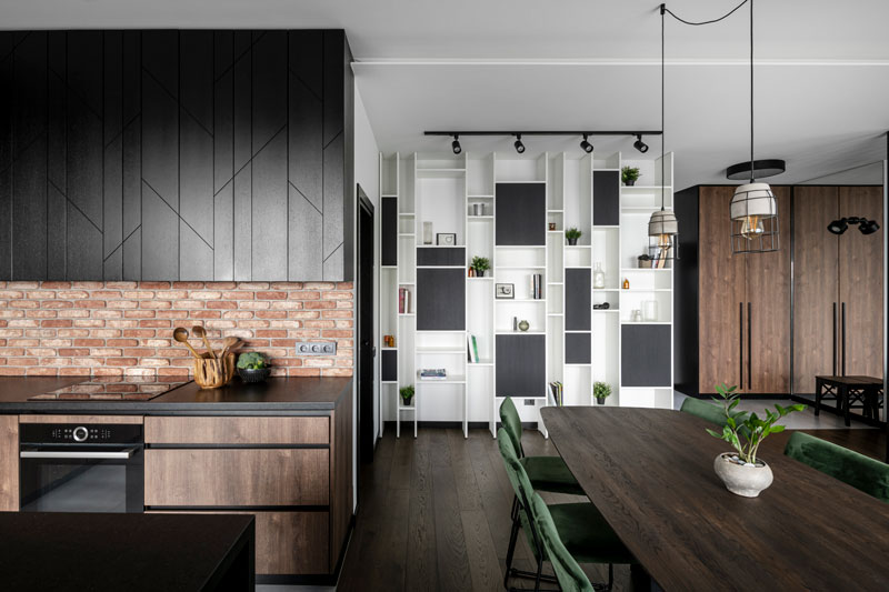 virtuves interjeras - kotedzas baltupiuose #4