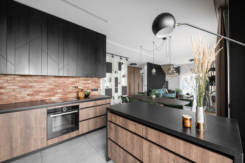 virtuves interjeras - kotedzas baltupiuose #3