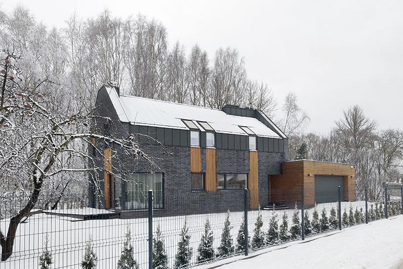 gyvenamojo namo pavilnyje projektas - fasadas #4