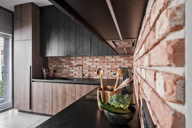 virtuves interjeras - kotedzas baltupiuose #2