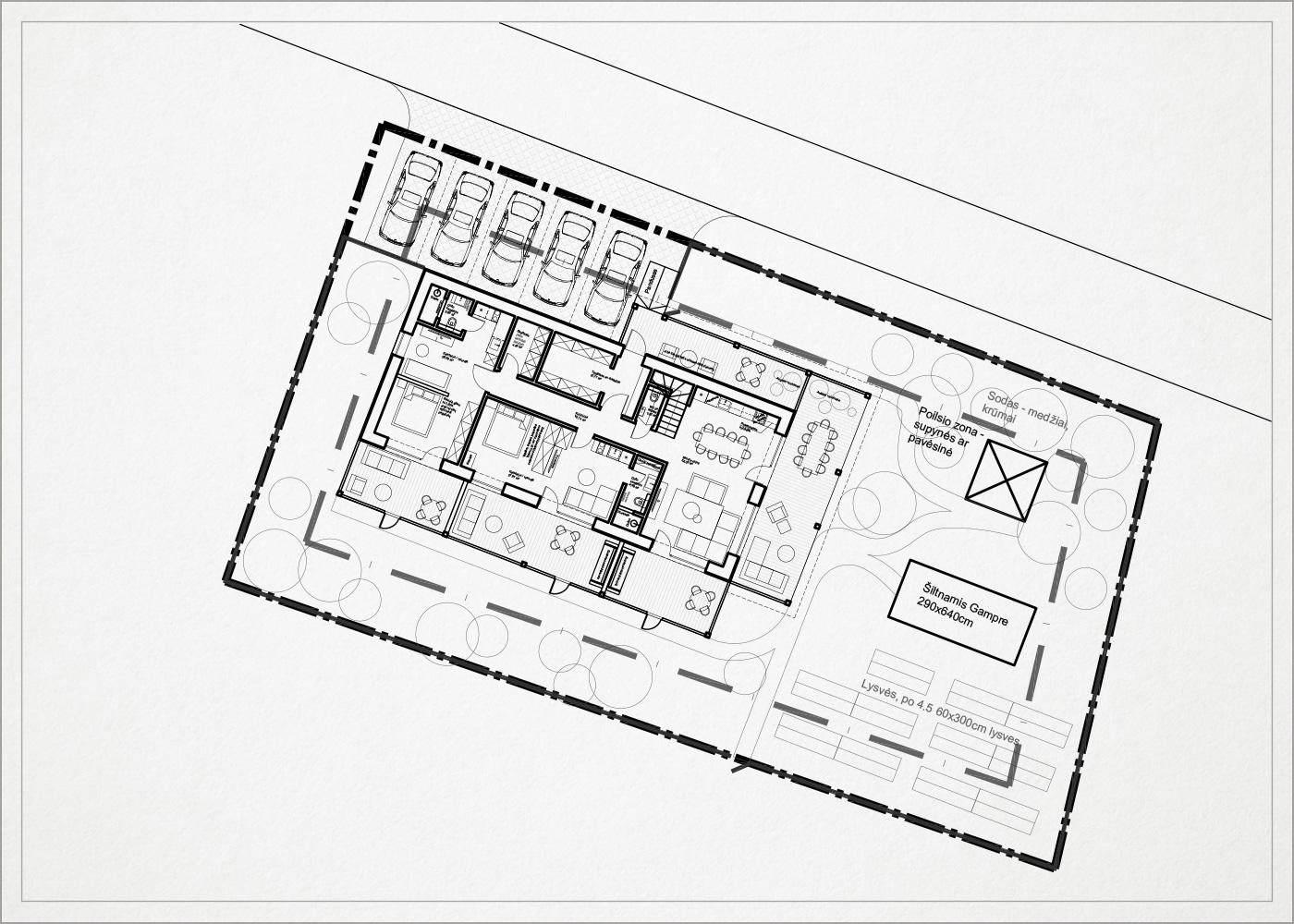generalinis planas - gyvenamasis namas kalnenuose