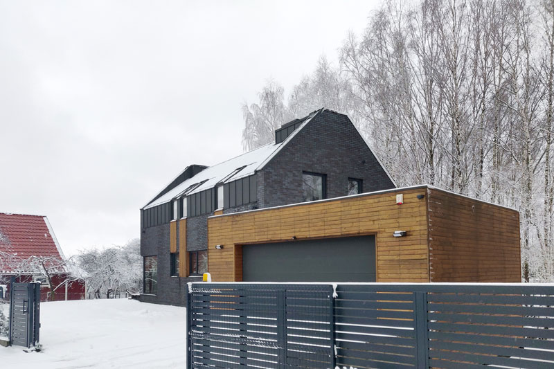 gyvenamojo namo pavilnyje projektas - fasadas