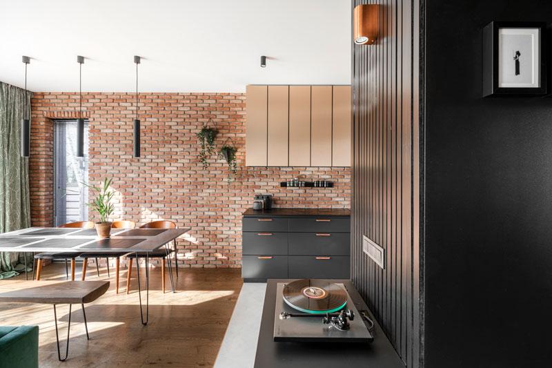 virtuves interjero dizainas - kotedzas pavilnyje #4