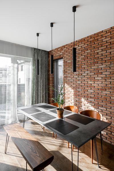 valgomojo interjero dizaino pavyzdys - kotedzas pavilnyje