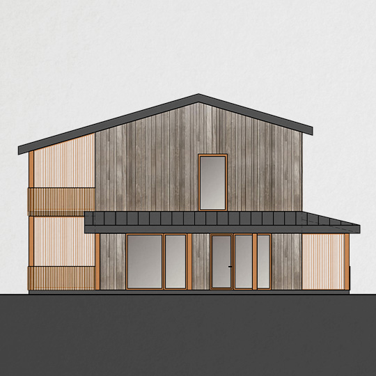 fasado architektura - namas kalnenuose