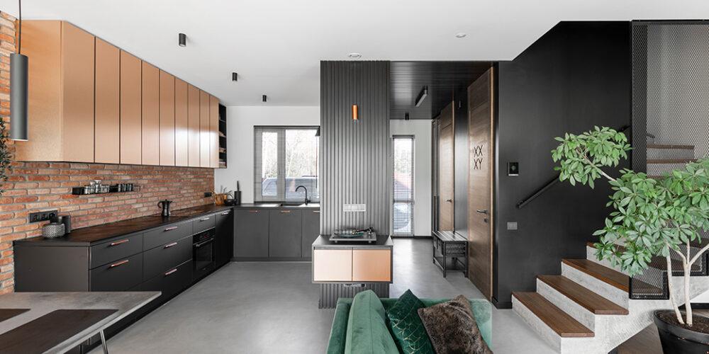 interjero dizaino pavyzdys - kotedzas pavilnyje
