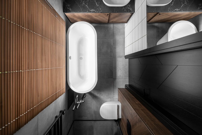 vonios interjero dizainas - kotedzas baltupiuose #2