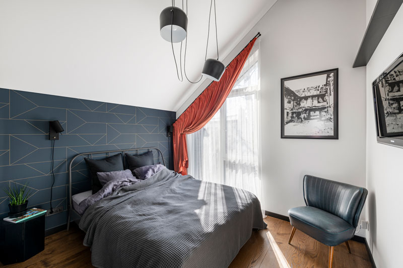 miegamojo interjero dizainas - kotedzas pavilnyje