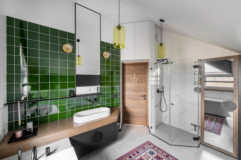 vonios interjero dizaino pavyzdys - kotedzas pavilnyje