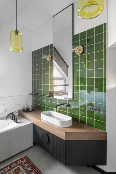 vonios interjero dizaino pavyzdys - kotedzas pavilnyje #5