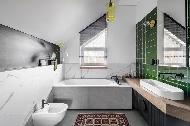 vonios interjero dizaino pavyzdys - kotedzas pavilnyje #4